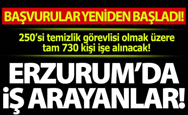 Var mı Erzurum'da iş arayan?