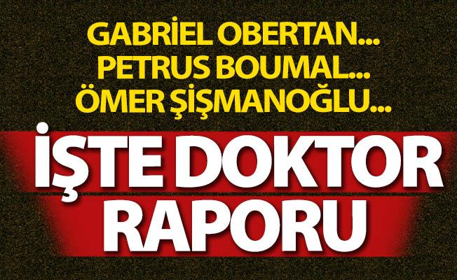 İşte Erzurumspor'un sakatlık raporu!