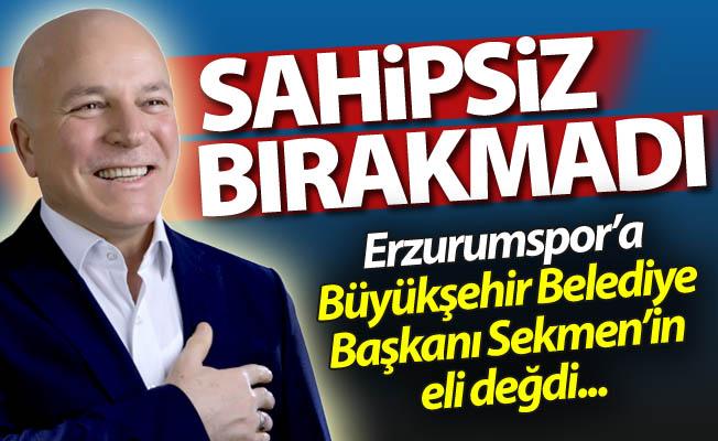 Erzurumspor'a Sekmen eli değdi...