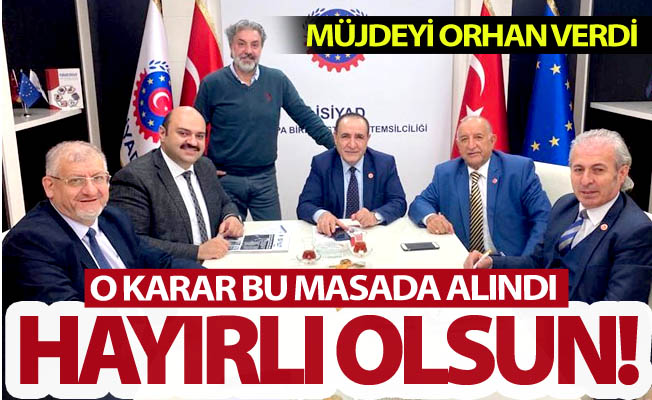 Erzurum'a müjdeyi Başkan Orhan verdi