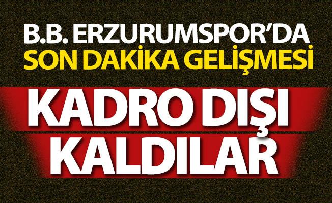 Erzurumspor'da son dakika gelişmesi!