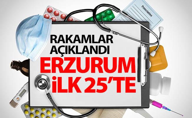 Erzurum sağlıkta ilk 25'te