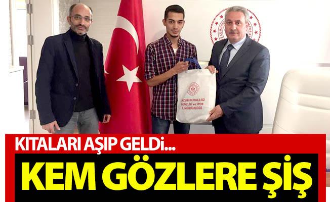 Erzurum'a kıtaları aşarak geldi...