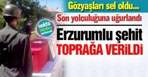 Erzurumlu şehit toprağa verildi