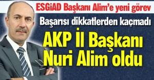 Alim, AKP'nin İl Başkanı oldu