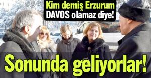 Erzurum'a geliyorlar...