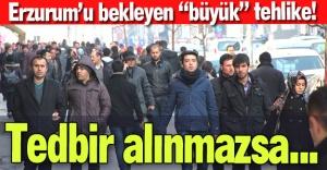 Erzurum'u bekleyen tehlike!