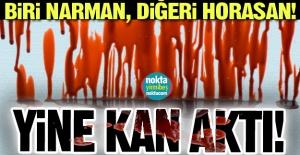 Erzurum'da yine kan aktı!