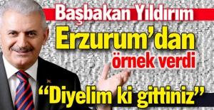 Başbakan'dan Erzurum örneği