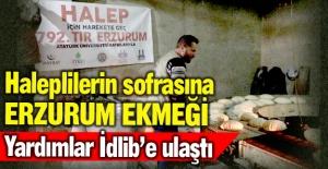 Erzurum'un unu Halep için ekmek oldu