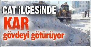 Çat'ta kar gövdeyi götürüyor!