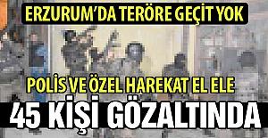 Erzurum'da teröre geçit yok!