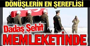 Şehidin naaşı Erzurum'da