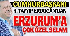 Cumhurbaşkanı Erdoğan'dan özel selam...