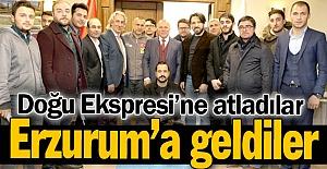 Erzurum'a da uğradılar...
