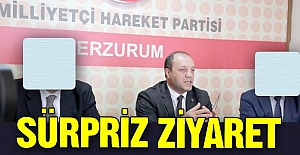 Erzurum MHP'ye sürpriz ziyaret!