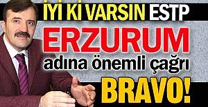 Erzurum için önemli çağrı!
