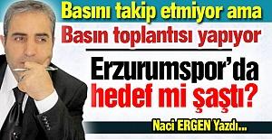 Erzurumspor'da hedef mi şaştı?
