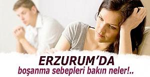 İşte Erzurum'da boşanma sebepleri!..