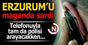 Erzurum#039;u maganda sardı!