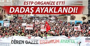Erzurum'dan Filistin'e destek!..