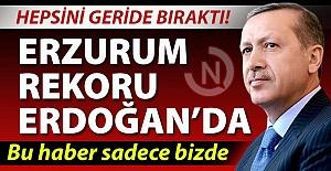 Erzurum rekoru Erdoğan'da!..