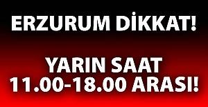 Erzurum#039;un dikkatine!..