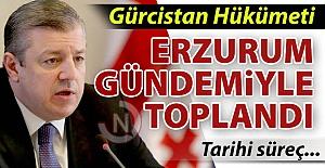 Gürcistan'da gündem Erzurum'du...