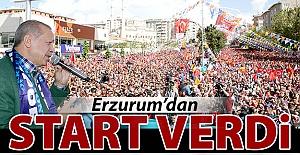 Startı Erzurum'dan verdi