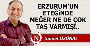 Erzurum'un eteğindeki taşlar!..