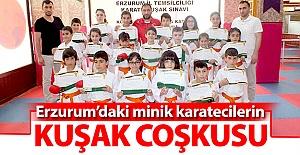 Karateciler kuşak sınavında ter döktü