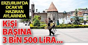 Erzurum'da kişi başına 3 bin 500 lira...