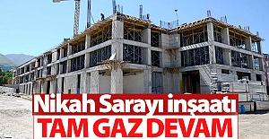 Nikah Sarayı inşaatı tam gaz devam