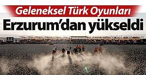 Türk Oyunları Erzurum'dan yükseldi