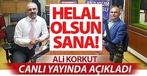 Ali Korkut canlı yayında açıkladı