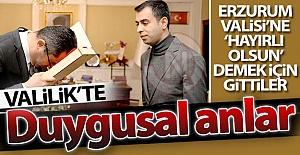 Erzurum Valiliği'nde duygusal anlar...