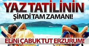 Yaz tatilinin şimdi tam zamanı!..
