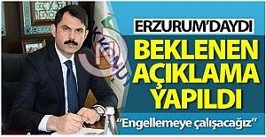 Beklenen açıklamayı Erzurum#039;da...