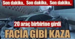 Erzurum'da facia gibi kaza!