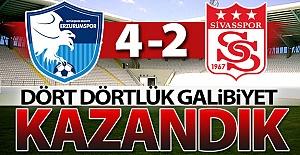 Erzurumspor'da dört dörtlük galibiyet!..