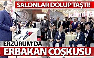 Erzurum'da Erbakan coşkusu!
