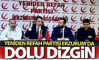 Yeniden Refah Erzurum'da dolu dizgin