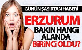 Erzurum o alanda birinci oldu!