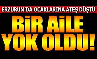 Erzurum'da bir aile yok oldu!