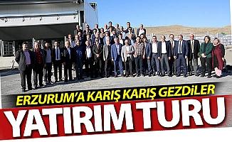 Erzurum'da yatırım turu attılar
