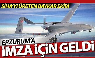 Erzurum'a imza için geldiler!..