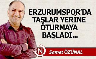Erzurumspor'da taşlar yerine oturmaya başladı...