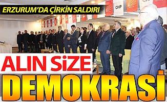 Erzurum'da çirkin saldırı!