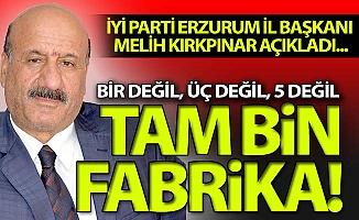 Erzurum'da tam bin fabrika...