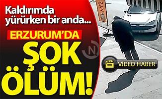 Erzurum'da şok ölüm!